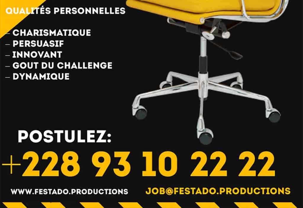 FESTADO TV PRODUCTIONS, recrute des agentes commerciales